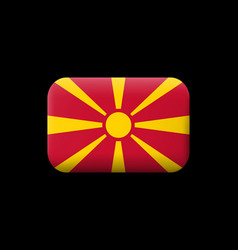 Flag of macedonia matted icon and button vector