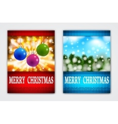 Flyer Templates with Holiday Backgrounds vector image