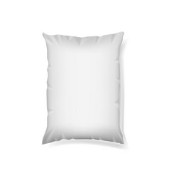 Food snack pillow bag on white background vector