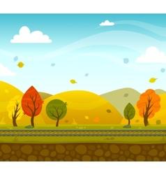 Game 2d park landscape vector