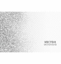 Glitter confetti snow falling from the side vector
