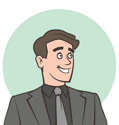 Happy smiling businessman looking away vector