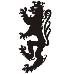 heraldic lion tattoo vector image
