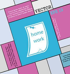 Homework icon sign Modern flat style for your vector