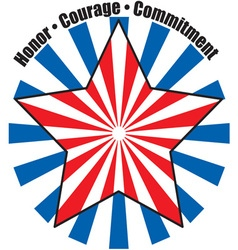 Honor Courage Commitment vector image