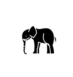 indian elephant black icon sign on vector image