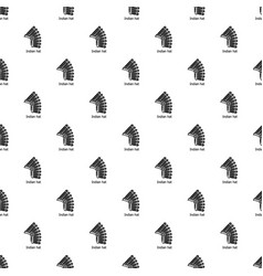 indian hat pattern seamless vector image