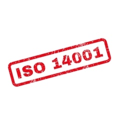 ISO 14001 Text Rubber Stamp vector