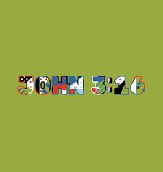 john 316 concept word art vector image
