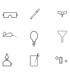 laboratory icon set vector image