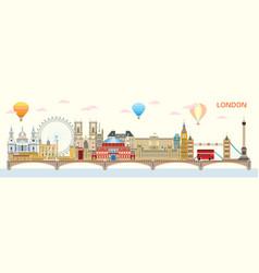 london skyline 8 vector image
