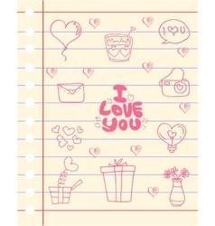 Love romance theme of paper vector