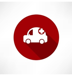 Medical car icon vector