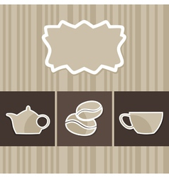 menu with a coffee cup vector image vector image