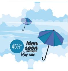 Monsoon big sales and discounts vector