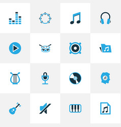 Multimedia colorful icons set collection of play vector