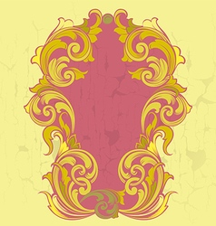 Old vintage gold frame in baroque style vector