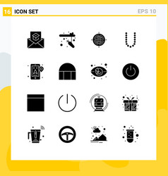Pack 16 creative solid glyphs location vector
