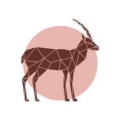Polygonal of a antelope geometric wild animal vector