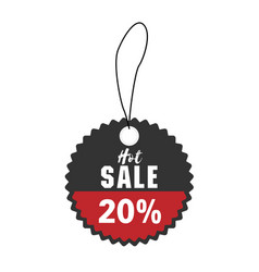 price tag hot sale 20 off image vector image