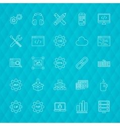 Programming Line Icons vector
