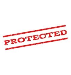 Protected Watermark Stamp vector