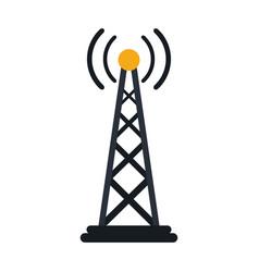 radio antenna transmission mast communication vector image