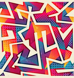 Rainbow color geomeric pattern seamless vector