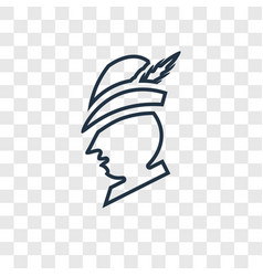 robin hood concept linear icon isolated on vector image