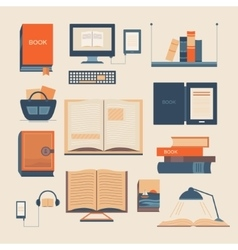 Set books vector