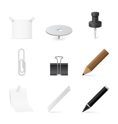 set of Icons for office and stationery vector image