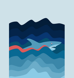 Shark attack abstract background vector