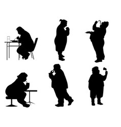 silhouettes full people vector image