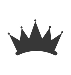 simple crown silhouette vector image