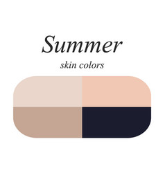 Skin colors for summer type vector