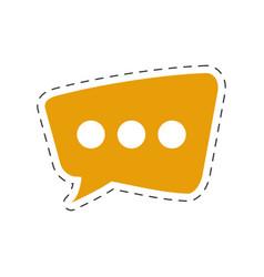 Speech bubble chat icon vector