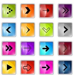 Square Arrows Set vector image