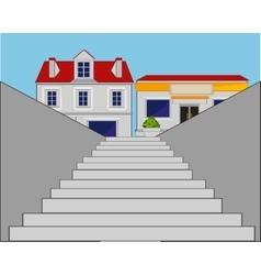 Stairway in city vector