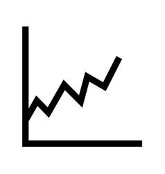 Stats glyph black icon vector
