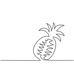 Stylized drawing of pineapple vector