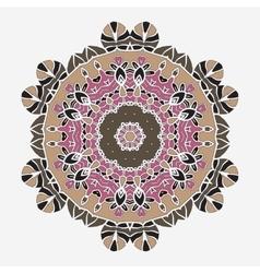 Stylized Oriental Print Mandala like Symmetrical vector image