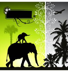 summer holiday elephants vector image