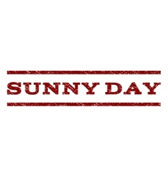 Sunny Day Watermark Stamp vector