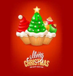 sweet christmas and happy new year vector image