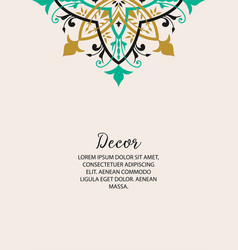 template for greeting cards invitations menus vector image