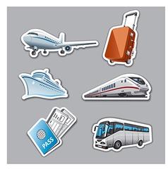 Travel stickers vector