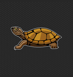 turtle logo design template turtle head icon vector image