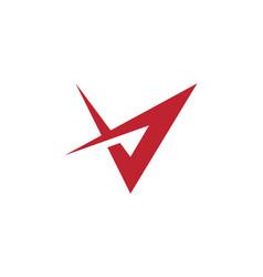 v letter icon logo vector image