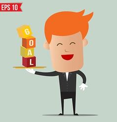 Waiter serving business concept - - EPS10 vector image