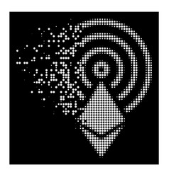 white dust dot halftone ethereum crystal airdrop vector image